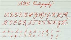 learn to write abc calligraphy for