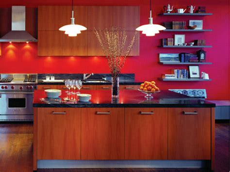 red wall kitchen ideas modern kitchen and interior design with red decorating