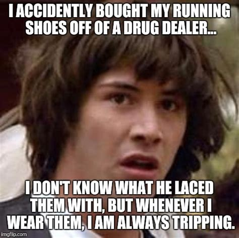 I Make Shoes Meme - keanu is suspicious of his new nike running shoes imgflip