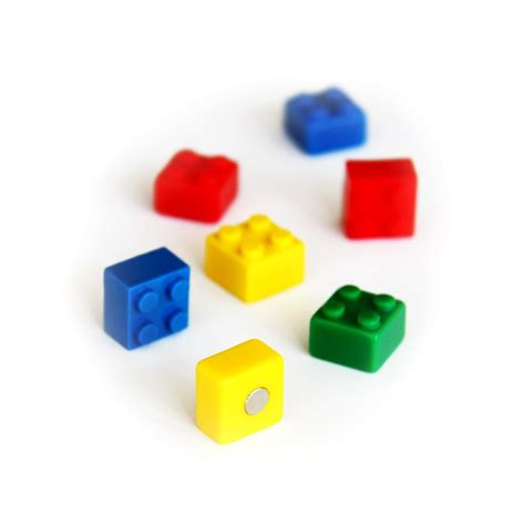 Assortment Of Four Magnets assorted popular shape office magnets brick