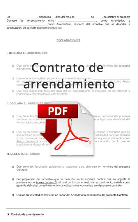 subida de contratos de arrendamientos en 2016 formato de contrato de arrendamiento pdf lamudi m 233 xico