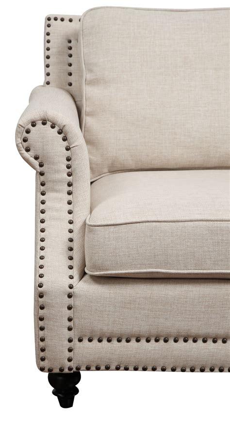 camden linen sofa camden beige linen sofa from tov tov 63802 3 beige