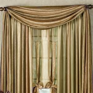 Swag Drapery Ideas Ombre Semi Sheer Scarf Valance And Window Treatments