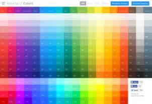 ui colors のマテリアルデザインで使える色が並び クリック一発でカラーコードのコピーも可能な material ui
