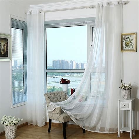 home decor drapes white window transparent voile curtains tulle curtains