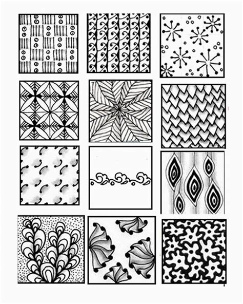 easy zentangle patterns printable zentangle patterns printable www imgkid com the image