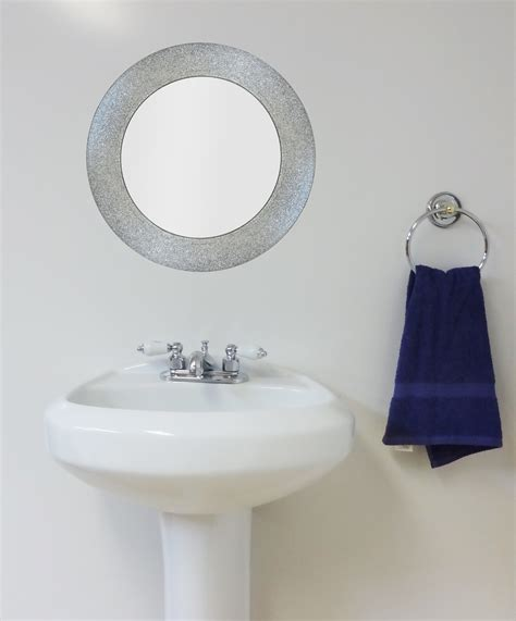 Sparkle Bathroom Mirror Silver Glitter Mirror Potty Concepts