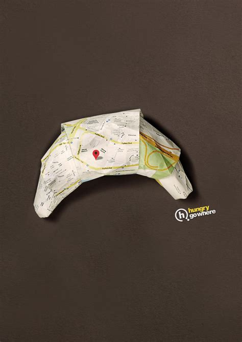 origami advertising hungry go where print advert by bbdo origami croissant