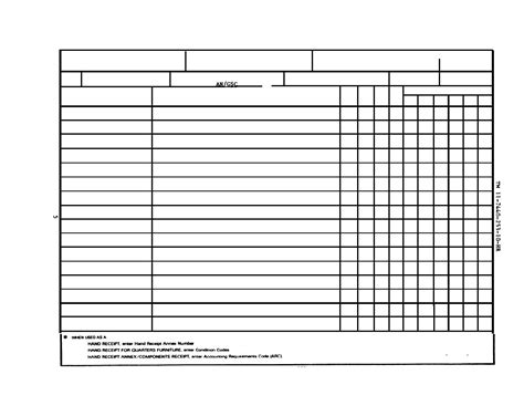 printable 2062 hand receipt download pdf fillable da 3161