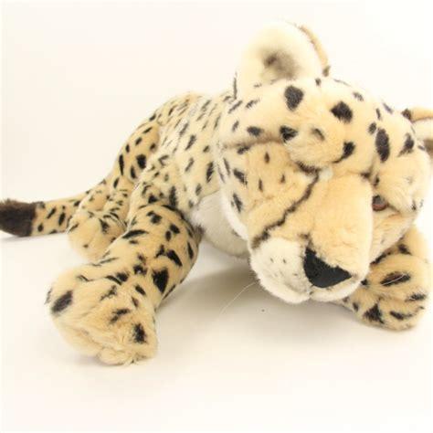large plush animals large cheetah plush animal wildlife toys