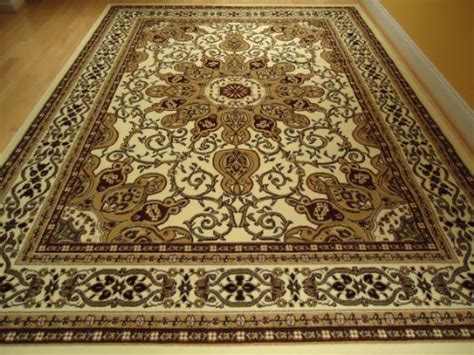Large Ivory 8 215 11 Persian Style Rug Oriental Rug Cream Area Big Area Rugs Cheap