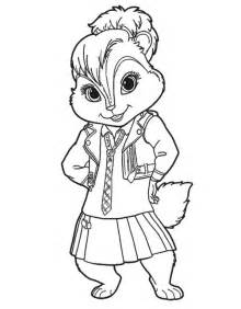 Alvin And The Chipmunk Coloring Pages Chipmunks sketch template