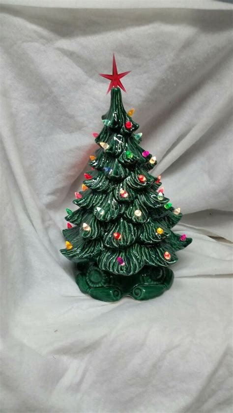 american made christmas trees tree vintage style mold new green bulbs light made in usa ebay