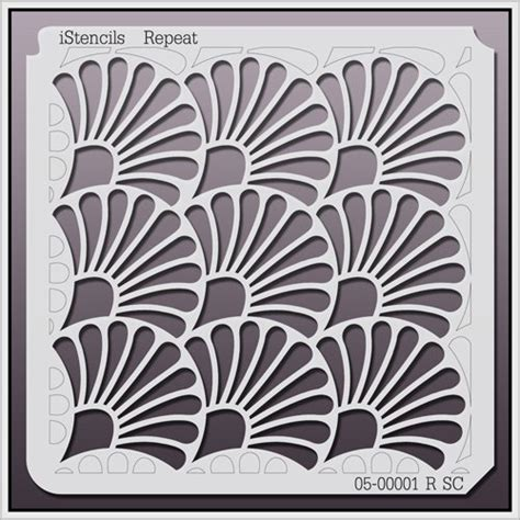 repeat pattern wall stencil 05 00001 r sc shell repeat stencil