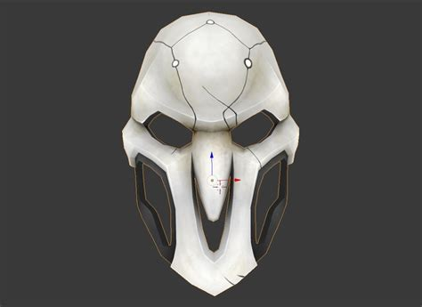 Blender Papercraft - reaper mask papercraft 3d model