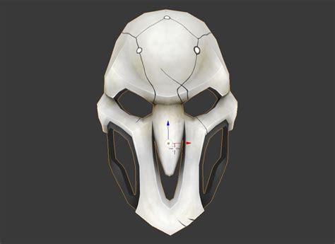 Blender Papercraft - reaper mask papercraft 3d model
