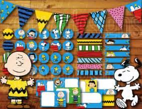 Printable Snoopy Birthday Decorations | printable snoopy birthday party decoration peanuts charlie