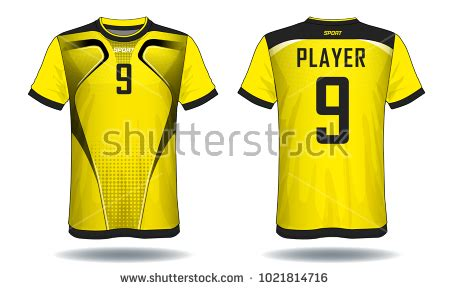 layout design for jersey soccer jersey templateyellow black layout sport stock