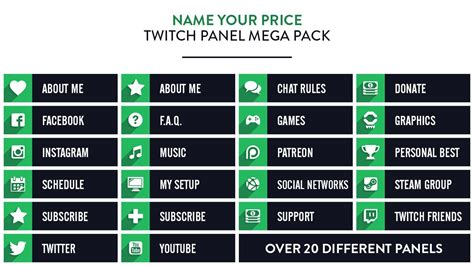 How To Use Twitch Giveaways - twitch panel mega pack nerd or die