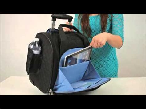 travelon 18 quot wheeled underseat carry on luggage