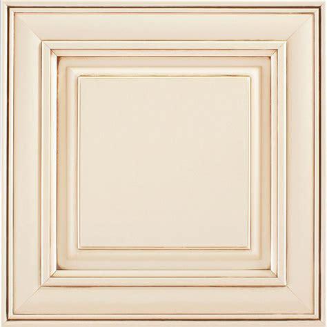 Vintage Kitchen Cabinet Doors American Woodmark 14 9 16x14 1 2 In Cabinet Door Sle In Painted Hazelnut Glaze