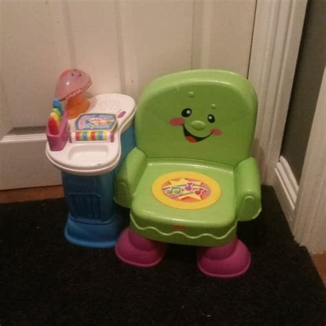 fisher price laugh learn song story chair for sale in