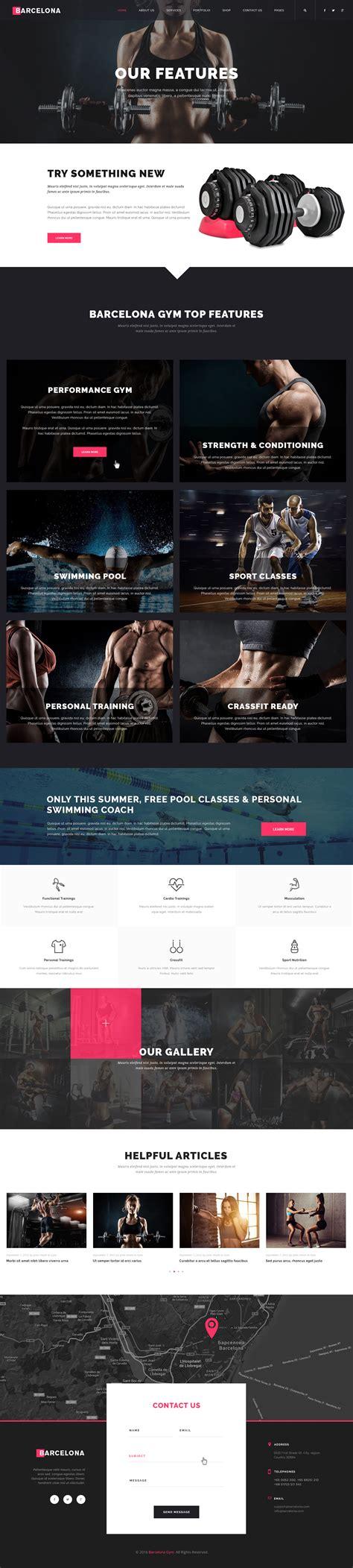 facebook themes barcelona barcelona sport gym fitness template psd templates