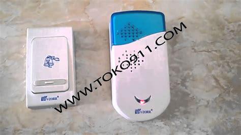 Bel Pintu Chime Wireless jual bell pintu rumah tanpa kabel dool bell chime