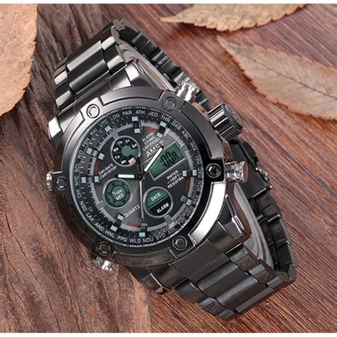 Amst Jam Tangan Militer Analog Digital Pria Am3022 Hitam Amst Jam Tangan Militer Analog Digital Pria Am3022