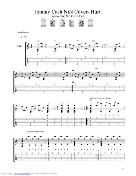 guitar tutorial johnny cash hurt guitar pro tab by johnny cash musicnoteslib com