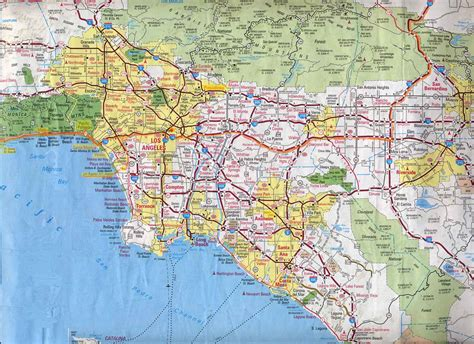 map to los angeles california napa and sonoma valleys
