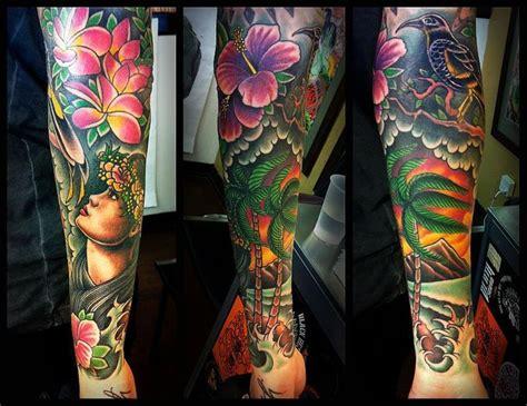 hawaii theme half sleeve search tatted half sleeves sleeve and hawaii