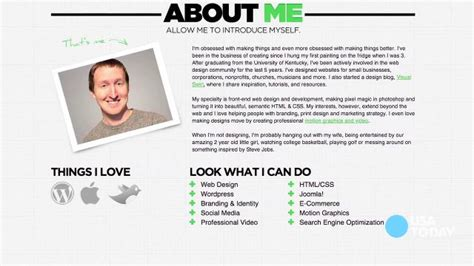personal resume website exle tech now what to put on your personal website