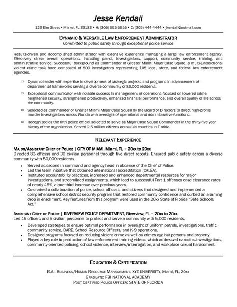 sle resumes for law enforcement enforcement resume sle 28 images enforcement resume