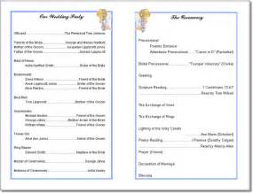 program templates wedding program templates from thinkwedding s print your