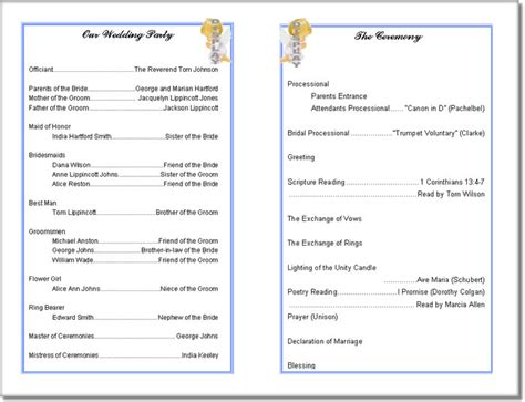 Free Printable Church Program Templates wedding program templates search results calendar 2015