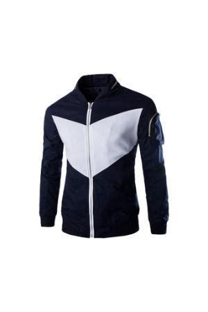 Blazer Pria Korean Style Navy Blue korean style mens fashion casual stand collar winter warm