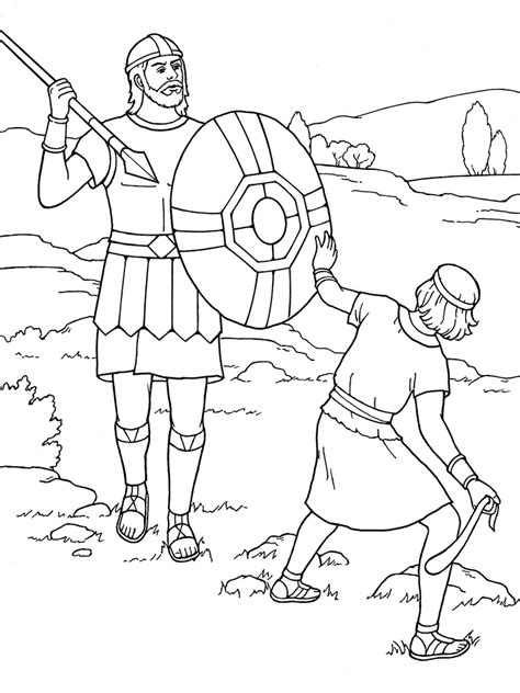 Free Coloring Pages Of Goliath The Giant David And Goliath Coloring Page