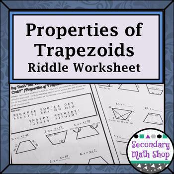 Properties Of Trapezoids Worksheet