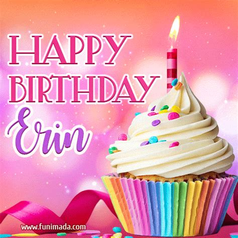 happy birthday erin lovely animated gif