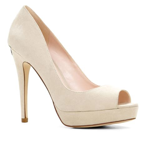 peep toe high heels aldo aoisa high heel platform peep toe courts in white