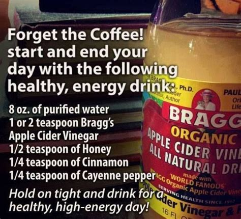 Honey Vinegar Water Detox by Start Your Day With This And Healthy Energy Drink