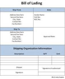 bill of lading template word bill of lading template word excel formats