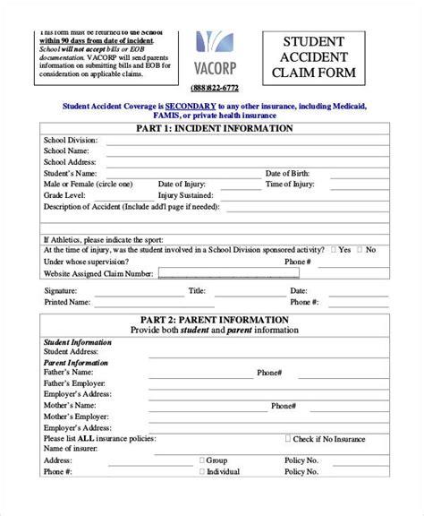 Claim Form Template Claim Form Template