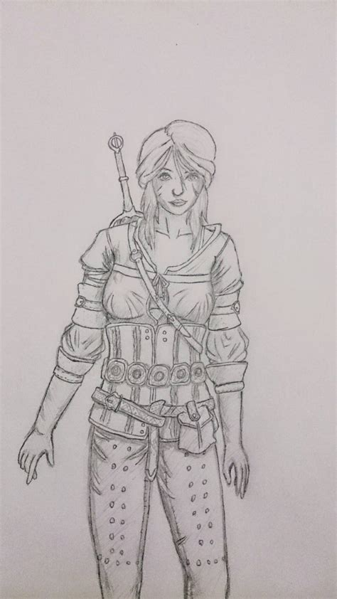 Witcher 3 Sketches by Ciri Cirilla Witcher 3 Sketch By Johnvindex On