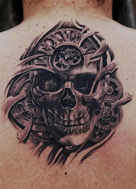 gear head tattoos designs skull and gear type for possible tattoos