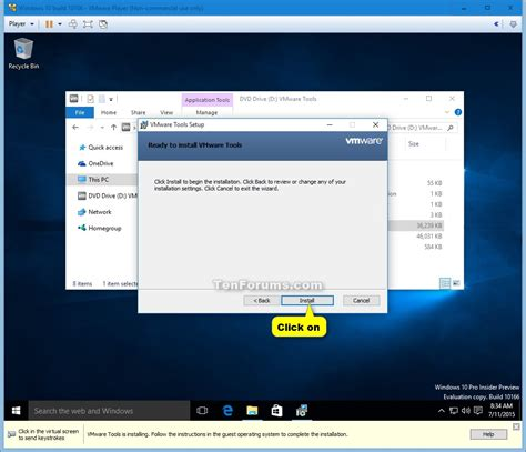 install windows 10 virtual install windows 10 as virtual machine in vmware player