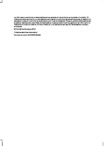 2013 Ford Escape Manual Del Propietario In Spanish