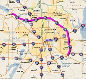 i 635 dallas map interstate 635 dallas map