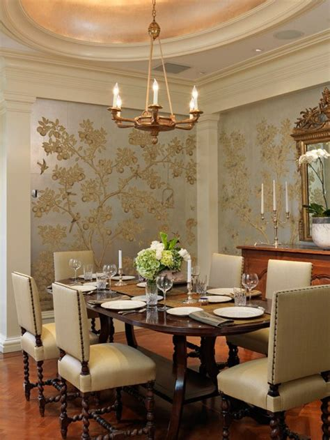 wall paper for room dining room wallpaper houzz